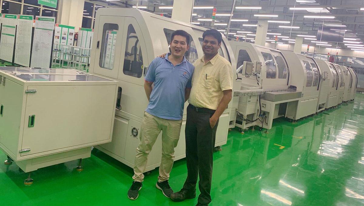 Machine set up in India