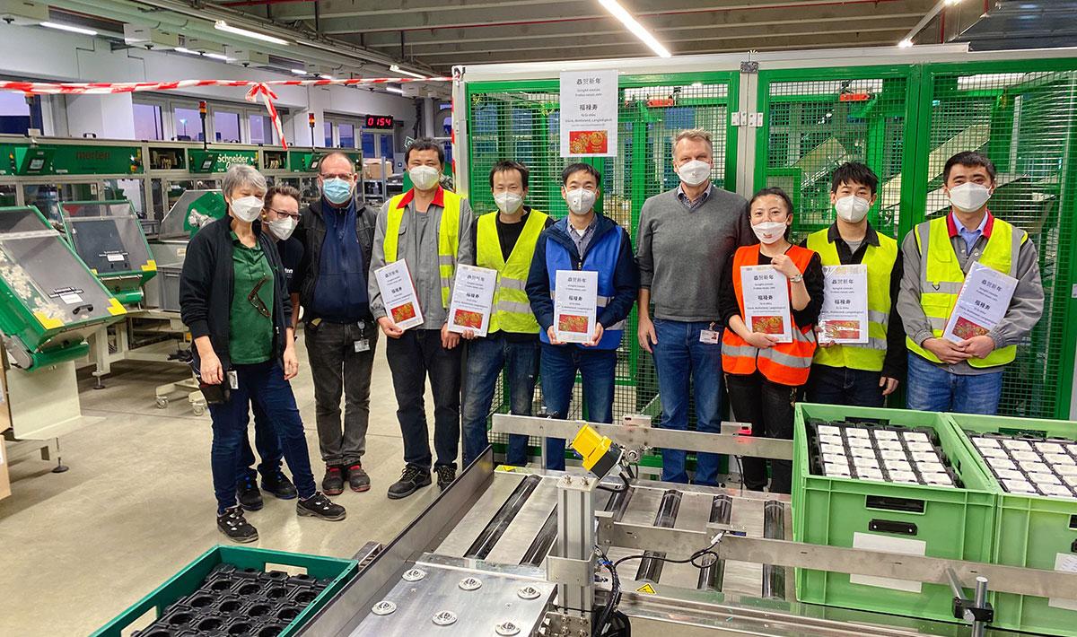 Machine Set up in Schneider Germany